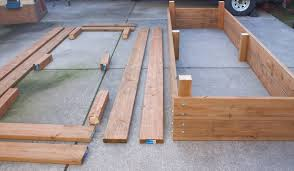 how the raised garden beds we made are