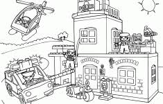 Lego Police Coloring Pages Printable Class Crafts Ruva