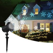 Outdoor Led Christmas Projection Lights Amazon Com 2019 New Moving Snowflake Lights White