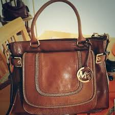 brown leather michael kors bag