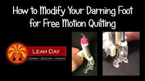 Modify Your Darning Foot for Free Motion Quilting on a Home ... & Modify Your Darning Foot for Free Motion Quilting on a Home Machine -  YouTube Adamdwight.com