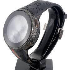 new mens custom black full i gucci digital ya114207 black diamond new mens custom black full i gucci digital ya114207 black diamond watch 2 50 ct