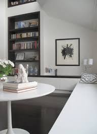 Interior:Cozy Reading Room In Home Library With Wall Bookracks Also  Floating Sofa Bed And