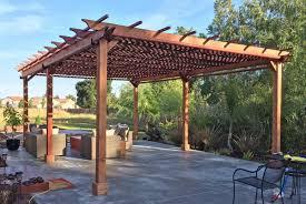 Redwood Pergola Kits Astonishing Construction Design Large Rectangle Wooden  Tough Six Posts Sturdy Boards Crossbeams Top Garden Decoration
