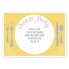 Invitation Card For Dinner Party Pretty Plate Dinner Party Invitation Invitations Cards On Pingg Com