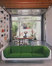 remote garage door in den or library modern living room