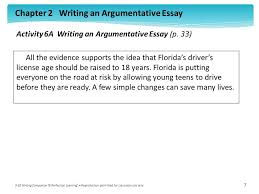 activity a writing an argumentative essay p ppt video activity 6a writing an argumentative essay p 33
