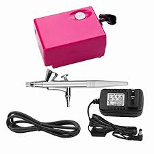 airbrush makeup set pinkiou air brush kit for face paint with mini pressor 0 4mm needle