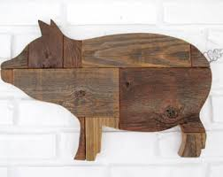 rustic wooden pig sign wall decor reclaimed wood pig country farm kitchen folk art 7500 on wooden pig wall art with pig wall decor etsy