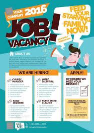 Flyer Jobs Job Vacancy Flyer Advertisement Template Hiring Poster