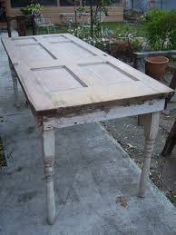 old wood door for a dining table