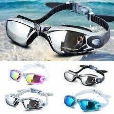 Swimming Goggles <b>Electroplating UV Waterproof Anti</b> fog Swim ...