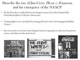 describe the rise of jim crow plessy v ppt video online  describe the rise of jim crow plessy v