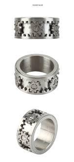 Kinekt Design Gear Necklace Silver Mechanical Ring Mechanisum Joyas Bricolaje