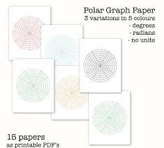 15 Polar Graph Papers Circular Graph Paper Digital Graph Paper Pdf Printable Instant Download