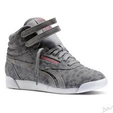 reebok high tops. reebok - freestyle high eden leopard high top sneaker grau / weiß tops