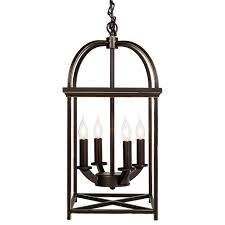 best choice s home 4 light ceiling chandelier hanging foyer lantern w bronze finish