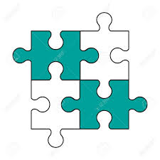 Jigsaw Puzzle Pieces Icon Illustration Graphic Design Royalty Free