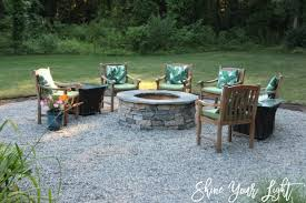 shine your light pea stone patio