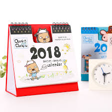 two year calender cute cartoon 2017 2018 two year desk calendar weekly planner office