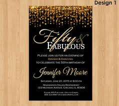 make your own 50th birthday invitations