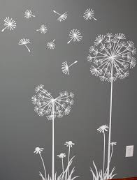 Dandelion craft to do with white paint and q-tips? Description from  pinterest. Wall Stencils ...