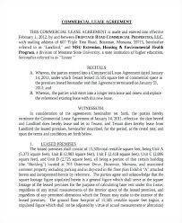 Commercial Rental Lease Template Commercial Agreement