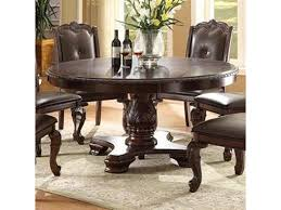 Crown Mark Kiera Traditional Round Dining Table Household