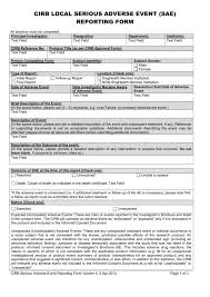 adverse event reporting form cirb 20lsae singhealth research