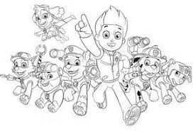 Paw Patrol Coloring Pages Kids Sketch Template Kerst Kleurplaten