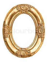 antique oval picture frames. Golden Oval Frame Isolated On White. Baroque Style Antique Object. Vintage Background For Your Photo, Picture, Image   Stock Photo Colourbox Picture Frames L