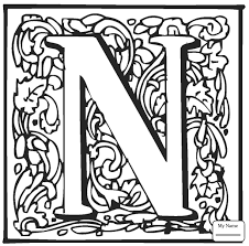 Coloring Pages English Alphabet With Ornaments Letters And