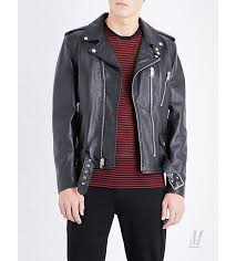 leather jackets uk saint lau men saint lau blood er embellished leather jacket black
