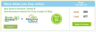 busch gardens deals. Coca-Cola Busch Gardens Tampa Adventure Island Deals