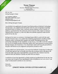 Cover Letter Examples Receptionist Cover Letter For Front Desk Amazing Paper Receptionist Cover