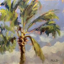palm tree painting contemporary impressionism heidi malott