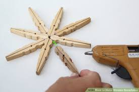 image titled make wooden snowflakes step 12