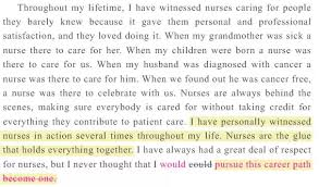 Nursing Personal Statement Examples What Is A Good Opening Sentence For A Personal Statement About