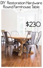 diy restoration hardware round farmhouse table and directions to make the perfect gray wash stain
