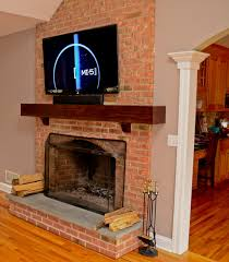 tv installation brick fireplace