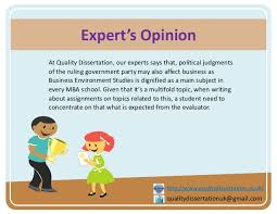 tips on how to write assignment on business environment