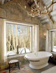 how nature merge with bathroom