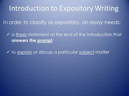 writing an expository essay ppt video online  introduction to expository writing