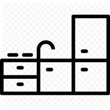 kitchen sink clipart black and white. kitchen, sink, drawer, tabel, water, tap, fridge, room icon kitchen sink clipart black and white