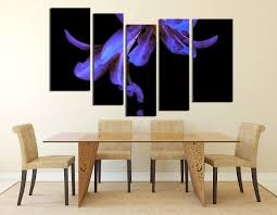 5 piece wall decor dining room wall art floral photo canvas flower group on blue orchid canvas wall art with 5 piece canvas photography purple flower huge pictures floral