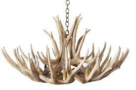 mule deer 12 antler chandelier