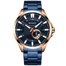 <b>CURREN</b> 8372 Men's Large Dial Water-resistant Quartz Watch ...