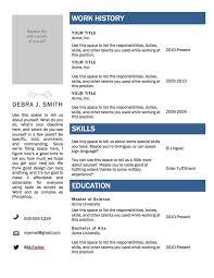 Microsoft Word Resume Template Free Free Resume Template Word Cv