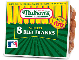 Nathan's Hot Dog Vending Machine Stunning Skinless Beef Franks Nathan's Famous