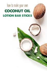 homemade coconut oil lotion bar sticks recipe with only two ings beeswax and coconut oil